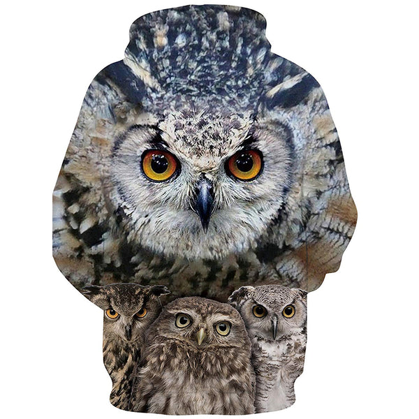 Owl Graphic Hoodie
