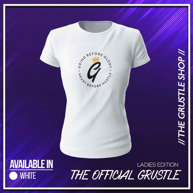 Ladies - White Grustle (Crewneck)