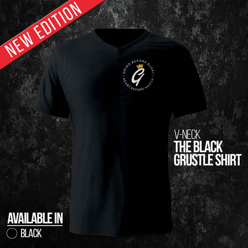 The Black Grustle Shirt (V-Neck)