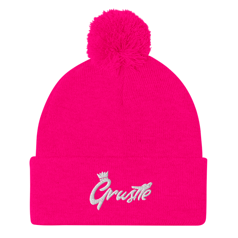 Grustle Pink Beanie (Ladies)