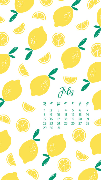 A Little Gift for you: July Calendars & Wallpapers- FREE