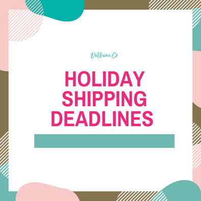 PSA!  Holiday Shipping Deadlines!
