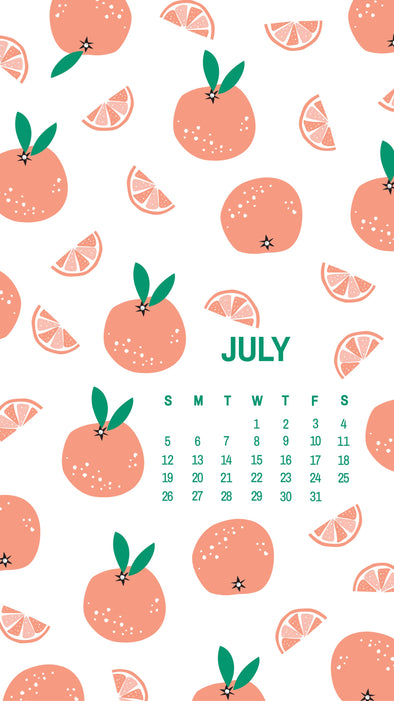July Calendar and Wallpaper Download-ables Now Available!  Free!