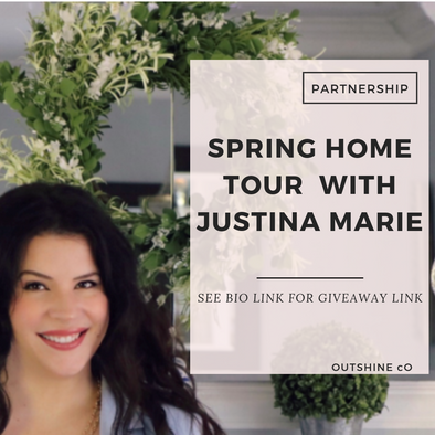 Spring Home Tour Giveaway with Miss Justina Marie!