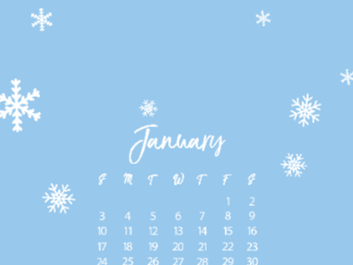 January 2021 Free Calendar and Wallpaper  Downloadables available now!