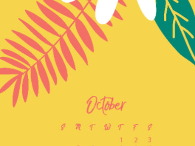 October Downloadable Calendars & Wallpapers Now Available! Free!