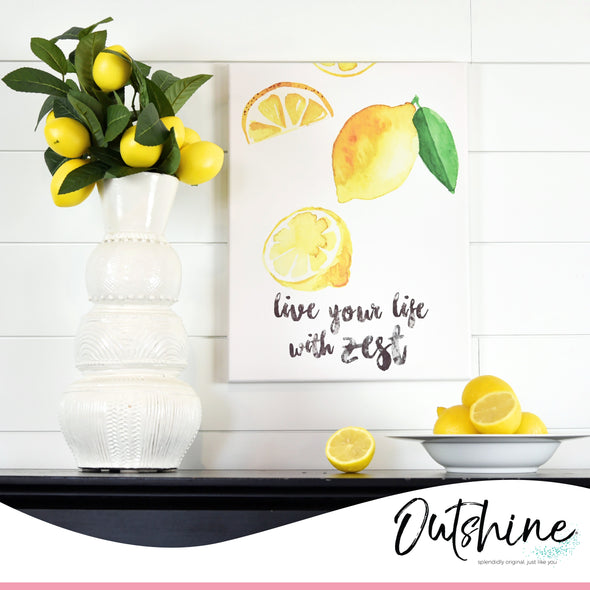 "12"" x 16"" Framed Lemon Quote Canvas Wall Art"