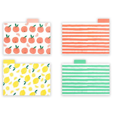 "4"" x 6"" Fruit Recipe Card Dividers with Tabs (Set of 24)"