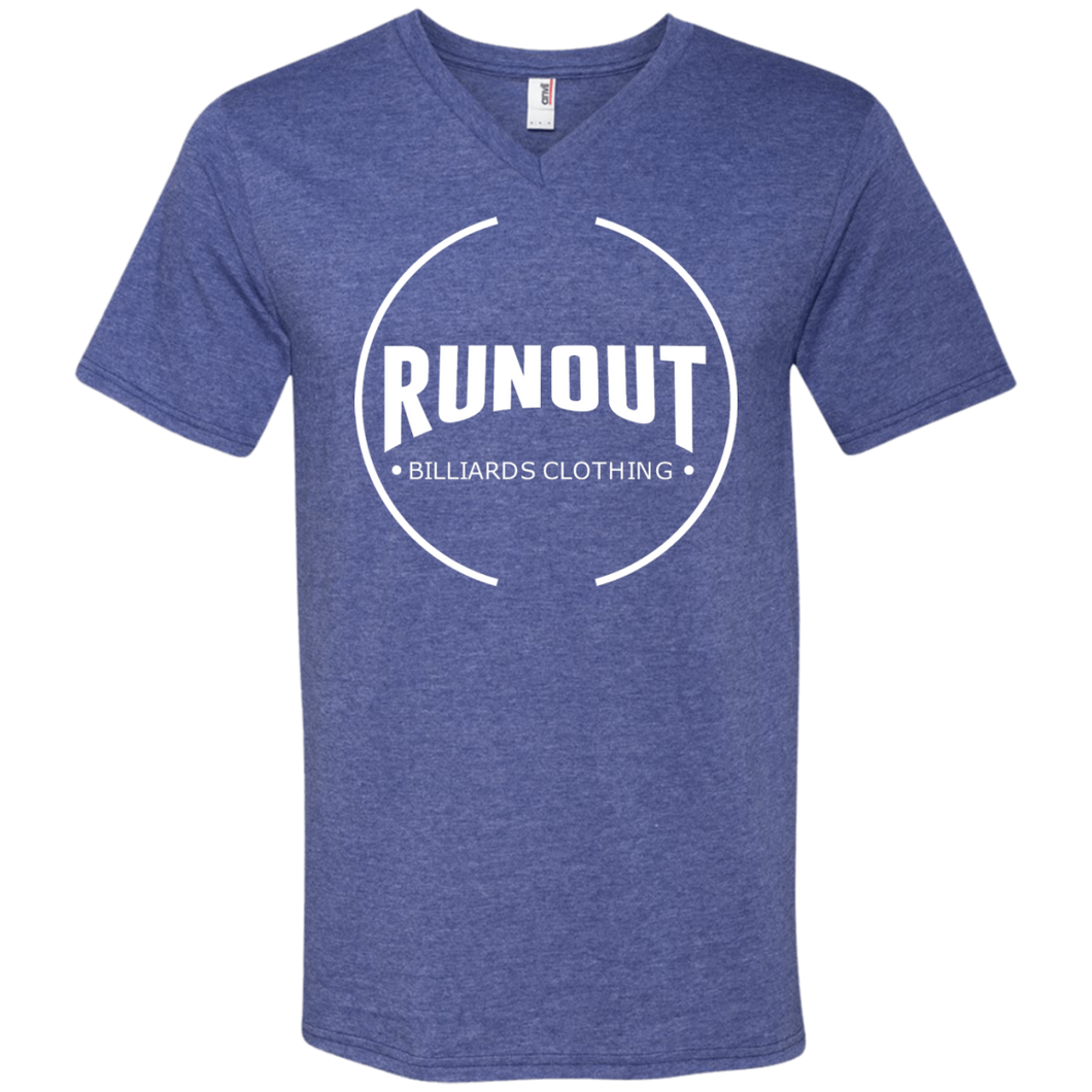 Runout Billiards Clothing - Anvil Men's Printed V-Neck T-Shirt