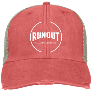Runout Billiards Clothing - Distressed Ollie Cap