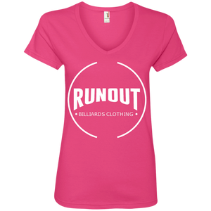 Runout Billiards Clothing - Anvil Ladies' V-Neck T-Shirt