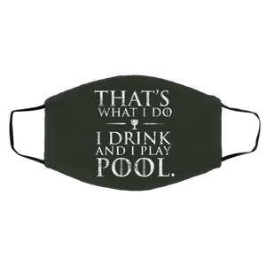 I Drink And Play Pool - Med/Lg Face Mask