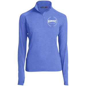 Runout Billiards Clothing - Women's 1/2 Zip Performance Pullover