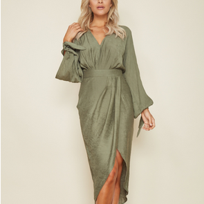 Bandage V Neck Long Sleeve Short Bohemian Dresses