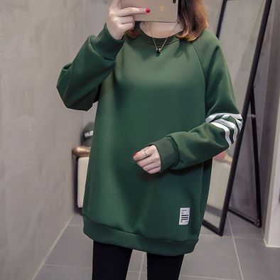 Round Neck Printed Long Sleeve Sweatshirts