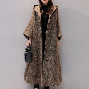 Hooded Single Breasted Slit Pocket Trench Coat