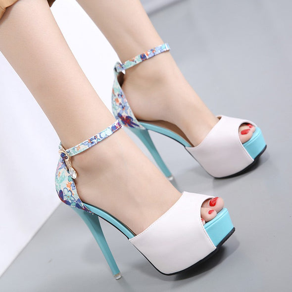 Daily Date High heeled Peep Toe Sandals