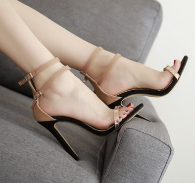 High heeled Peep Toe Casual   Sandals