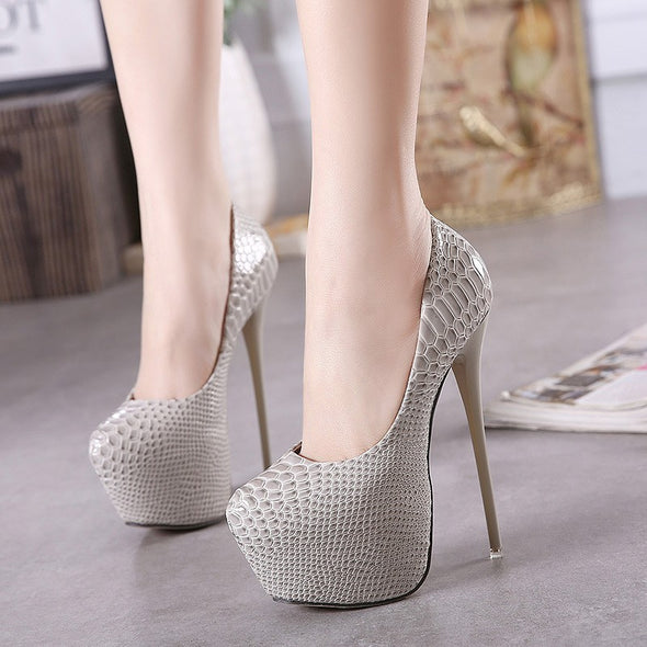Solid Color High Heeled Point Toe Sexy Women Heels