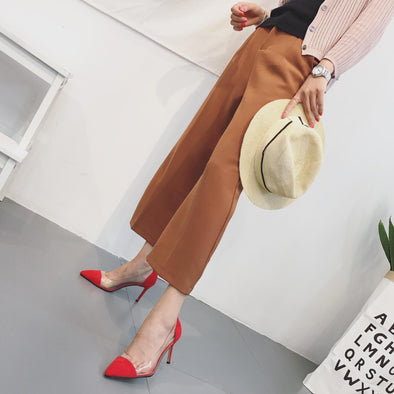 Stylish High heeled Point Toe Suede Women Heels