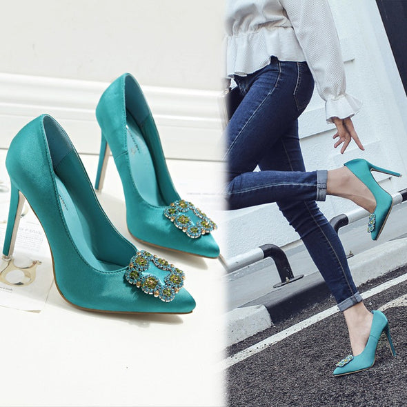 Rhinestone High heeled Point Toe Women Heels