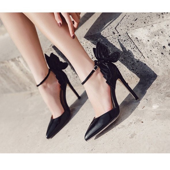 Solid Color Patty Daily Date High Heeled Point Toe Women Heels