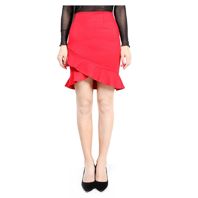 Lotus leaf Side High waist Tight Skirts