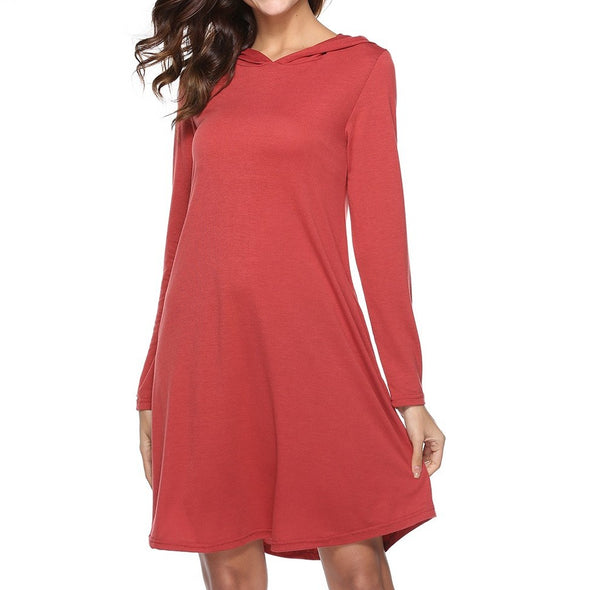 Long sleeve High Waist Vacation Dresses