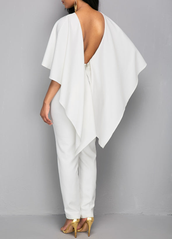 Dolman Sleeve Maxi Round Neck Jumpsuits