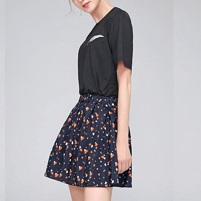 Fashion Print Mini  High Waist  Skirts