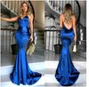 Sleeveless Solid Color Maxi V Neck High Waist Evening Dresses