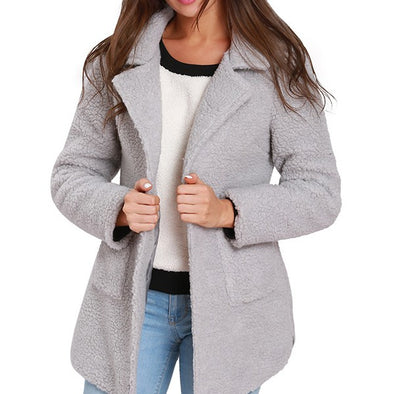 Thicken One Button Cardigan Wool Coat