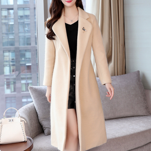 Fashion Thicken Over-the-knee Long Coat