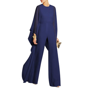 d4540e3c49c Sexy Solid Color Loose Speaker Jumpsuit