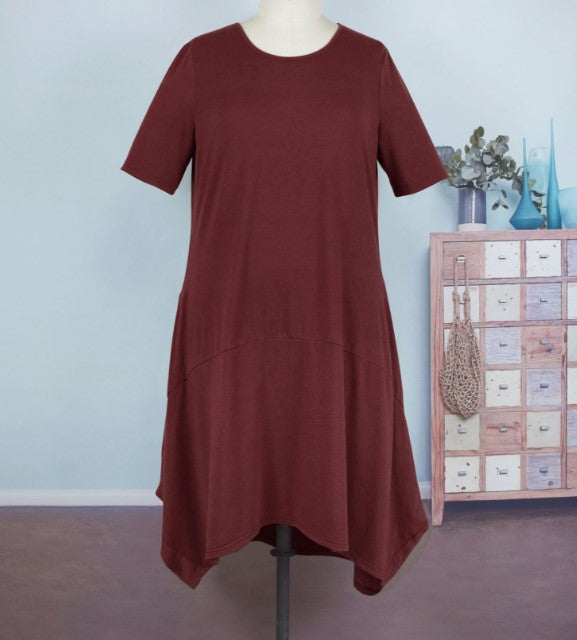 Irregular Solid Color Plus Size Casual Dresses