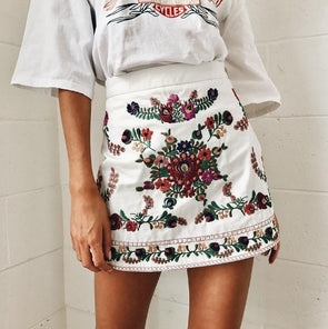 Embroidery Trend Bodycon Casual Skirts