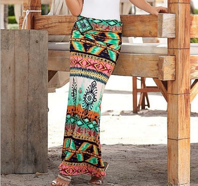Floral Print Bodycon Beach Casual Skirts