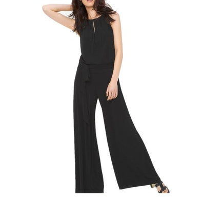 Sleeveless Middle Waist Hollow Out Casual Jumpsuits