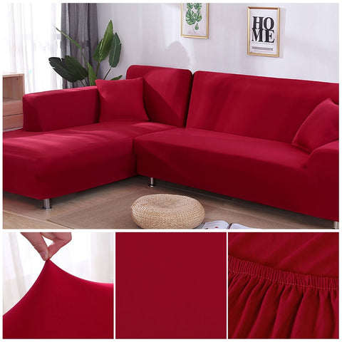 Image of Red Waterproof Sofa SlipCover
