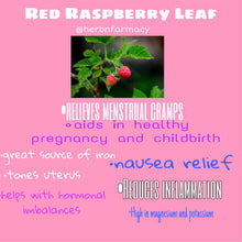 Load image into Gallery viewer, Red Raspberry Leaf Tea