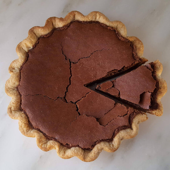 Fudgy Chocolate Chess Pie