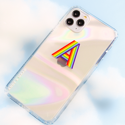 Monthly Font - IPhone 12 Pro Max Rainbow Case