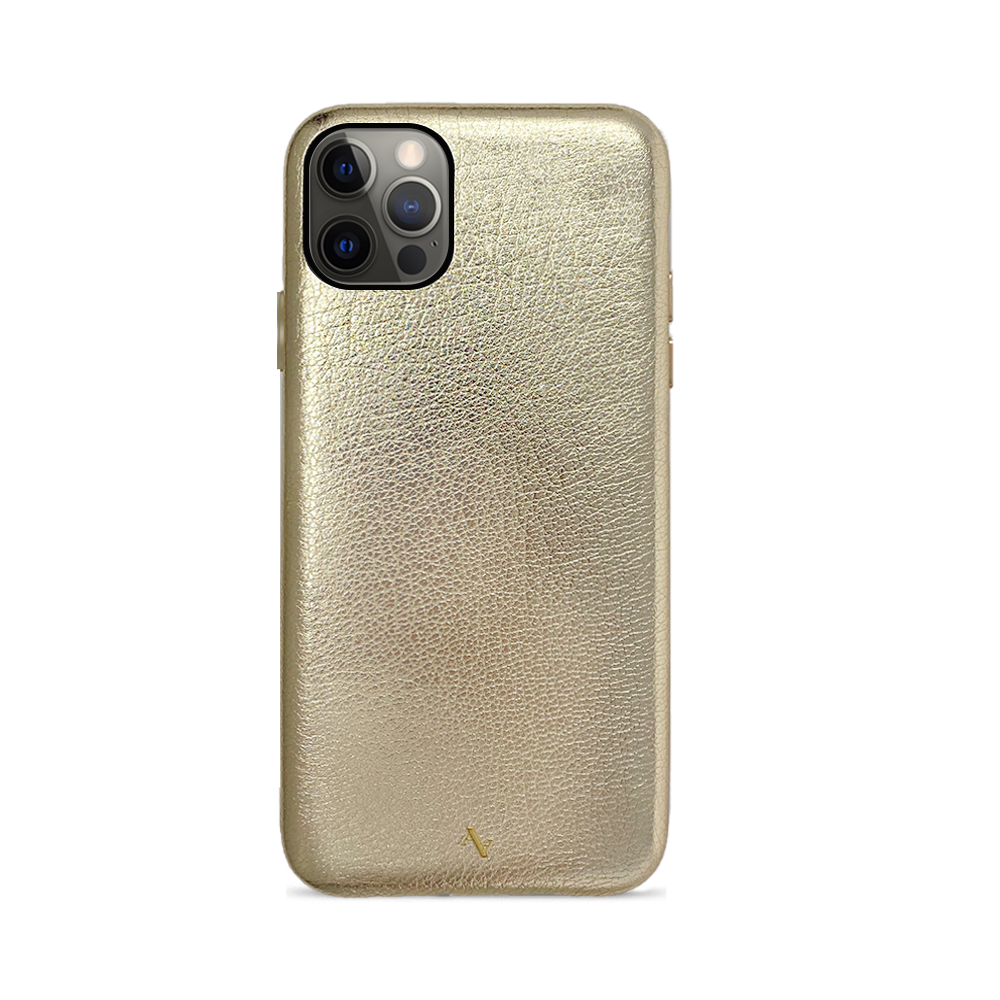(Pre Order) Pebble - Gold Metallic IPhone 12 Pro Max Case