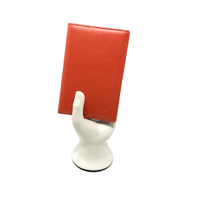 Coral Pebble Passport Holder