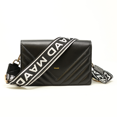 Test Match - Black Quilted Crossbody