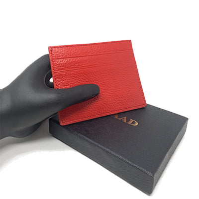 Red Pebble Card Holder