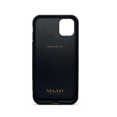 MAAD Classic - White IPhone 12 Leather Case