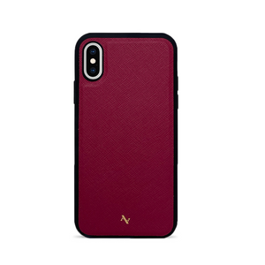 MAAD Classic - Red IPhone X/XS Leather Case