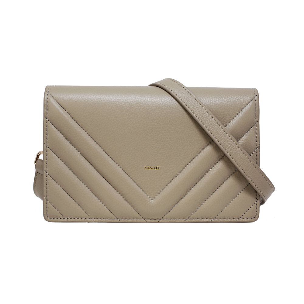 Match - Grey Quilted Crossbody