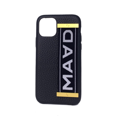 MAAD LVR Black IPhone 11 Pro Case - MAAD Collective - Saffiano IPhone Personalized Case